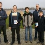 De winnaars, samen met de instructeurs